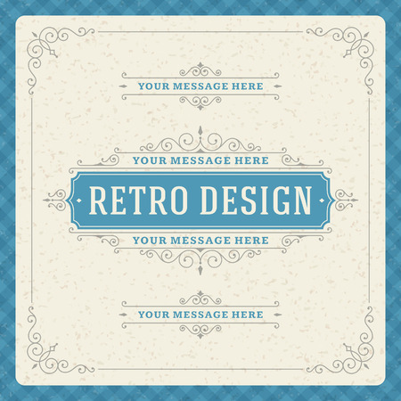 greetings: Retro typographic design elements  Template for design invitations, posters and other design