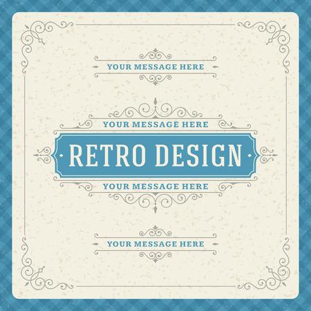 cổ điển: Retro typographic yếu tố thiết kế Template cho lời mời thiết kế, áp phích và các thiết kế khác