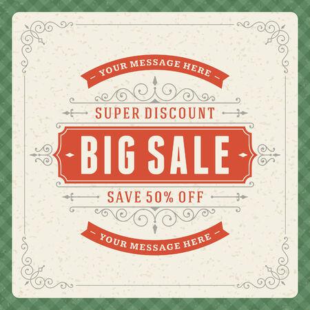 window case: Window advertising sale 50  off decals graphics  design elements set  Discount sale sign
