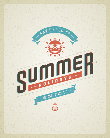 Summer typography poster design  Summer holidays message for your design vector background   Vector