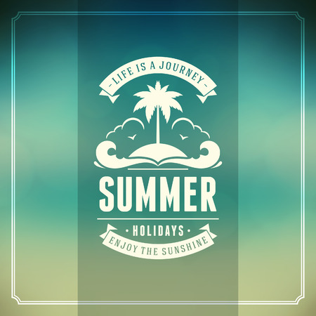 sunbeams background: Summer typography  Summer holidays message for your design vector background