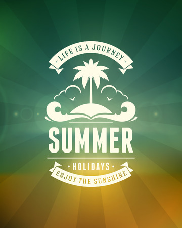 Summer typography  Summer holidays message for your design background   Vector