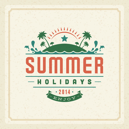 Summer vector typography poster design  Summer holidays message for your design vector background   Vector