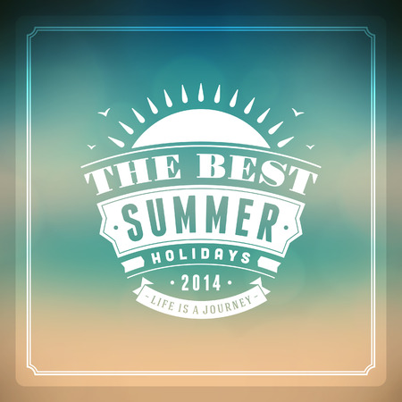 Summer vector typography  Summer holidays message for your design vector background   Vector