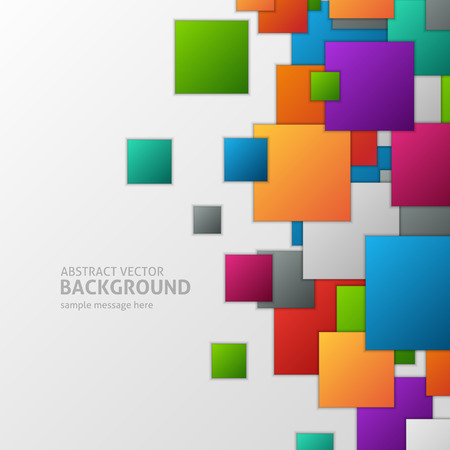 squares background: Abstract 3d geometric squares background