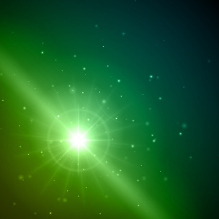 Lens flare light abstract vector background Vector