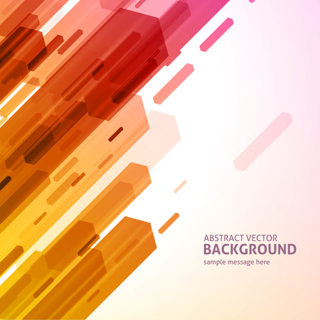 Abstract geometric hexagon lines background Vector