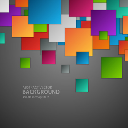 squares background: Abstract geometric squares background