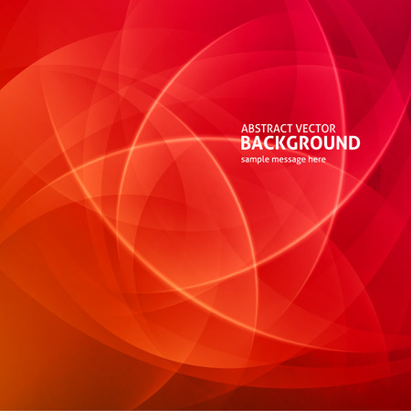 abstract red: Abstract light waves vector background Illustration