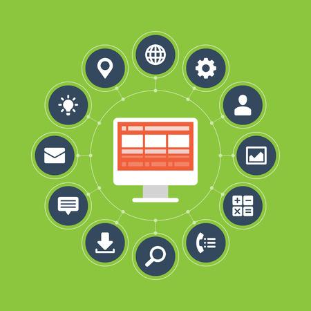 Flat design vector illustration infographic design elements concept Business and social media design Design template