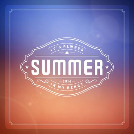 vintage paper: Summer vector typography poster design  Summer holidays message for your design vector background