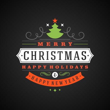 tipografia: Navidad tipograf�a retro y ornamento