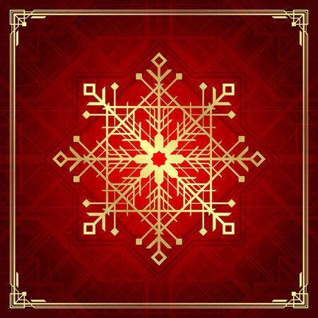 christmas deco: Christmas snowflake art deco style