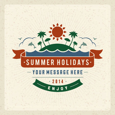 poster concepts: Summer vector typography poster design. Summer holidays message design vector background Illustration