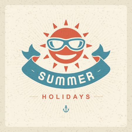 handmade paper: Summer vector typography poster design. Summer holidays message design vector background Illustration
