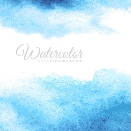 azul: Fondo de la acuarela abstracta
