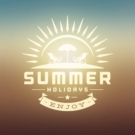 Summer holidays background illustration Vector