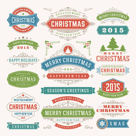 Christmas decoration design elements. Vector