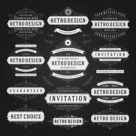 logotypes: Retro Vintage Insignias or Logotypes set.