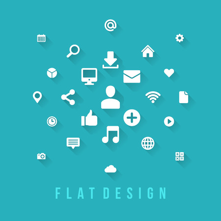 Flat design vector illustration infographic design elements concept and icons. Business and social media design. Web site and mobile phone templates. Vector