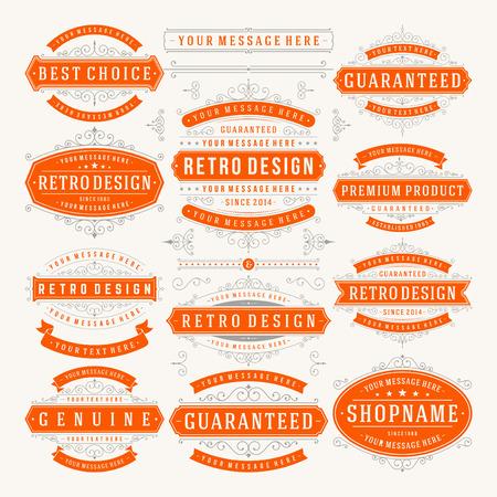 벡터 빈티지 디자인 요소입니다.