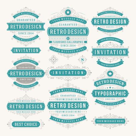 company background: Vector design elementi d'epoca. Vettoriali