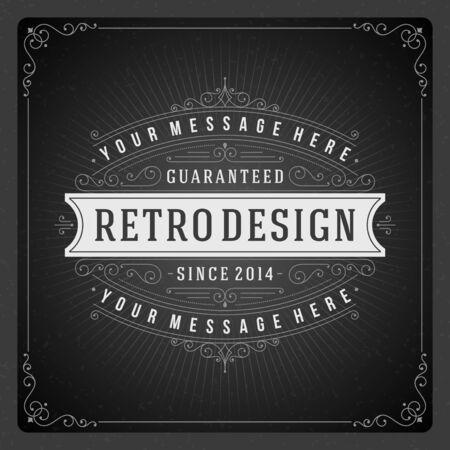Retro Tafel typografische Design-Elemente. Design-Vorlage für Einladungen, Plakate und andere Design.