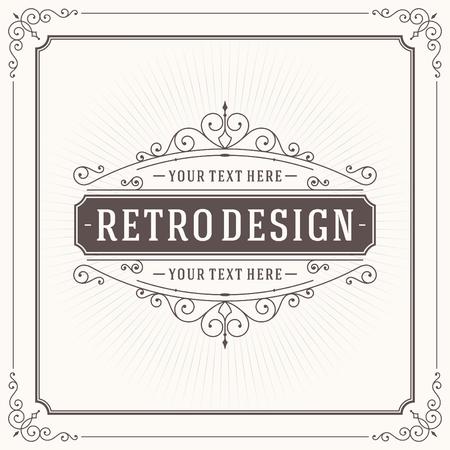 bordure de page: Vintage modèle de conception. Retro fioritures de cartes de voeux, des éléments de conception calligraphiques et typographiques. Modèle pour les invitations de conception, des affiches et d'autres le design.