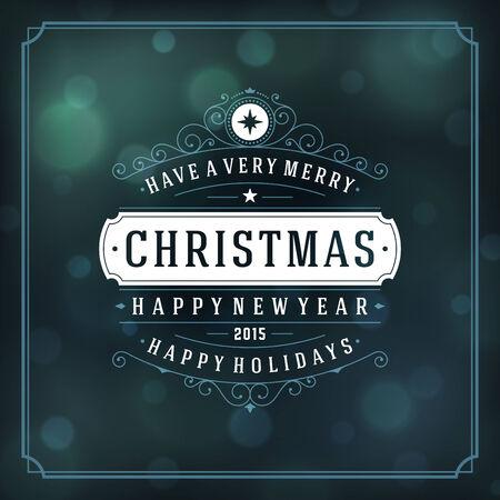 Weihnachten Retro-Typografie und hellem Hintergrund. Frohe Weihnachten wünschen Grußkarte Design und Vintage-Schmuck Dekoration. Standard-Bild - 32313388