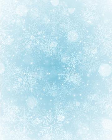 neige noel: Lumi�re de No�l avec des flocons de neige. Vacances Joyeux No�l souhaite la carte de voeux. Illustration