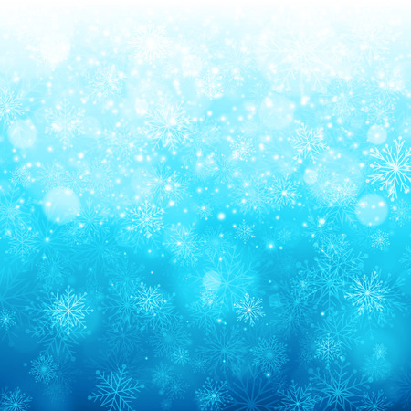 Christmas celebration light with snowflakes. Vector background Vector
