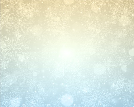 fall winter: Christmas light with snowflakes. Merry Christmas holidays wish greeting card. Vector background.