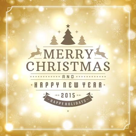 Carte de voeux de Noël vecteur lumière de fond. Vacances Joyeux Noël souhaitent conception et la décoration ornement vintage. Nouveau message de Bonne année. Vector illustration. Vecteurs
