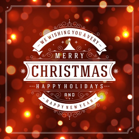 congratulation: Christmas greeting card light vector background. Merry Christmas holidays wish design and vintage ornament decoration. Happy new year message. Vector illustration.