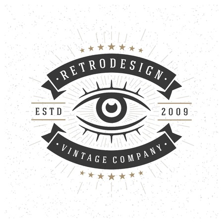 Retro Vintage Insignia or Logotype Vector design element, business sign template. Ilustracja