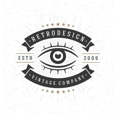 vintage look: Retro Vintage Insignia or Logotype Vector design element, business sign template. Illustration