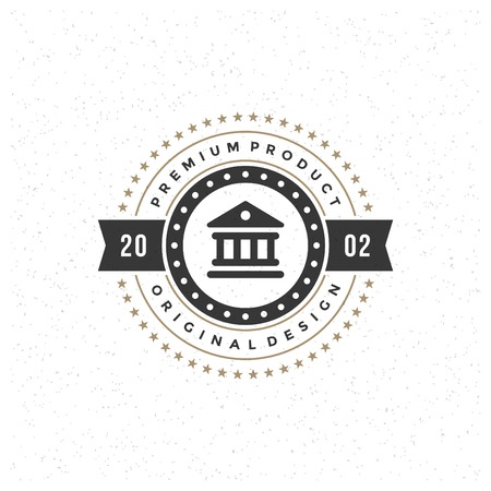 goverment: Retro Vintage Insignia, Label or Badge Vector design element, business sign template.