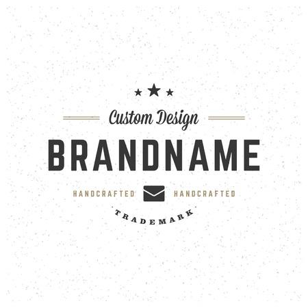 Retro Vintage Insignia, Label or Badge Vector design element, business sign template.