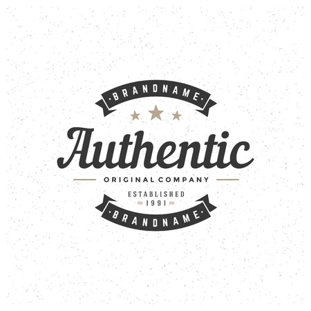Retro Vintage Insignia, Logotype, Label or Badge Vector design element, business sign template. Reklamní fotografie - 35279694
