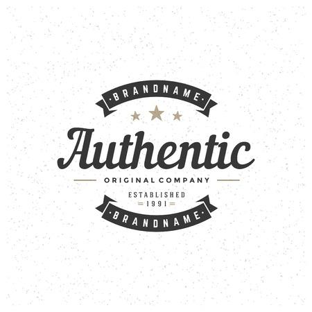 handmade: Retro Vintage Insignia, Logotype, Label or Badge Vector design element, business sign template.