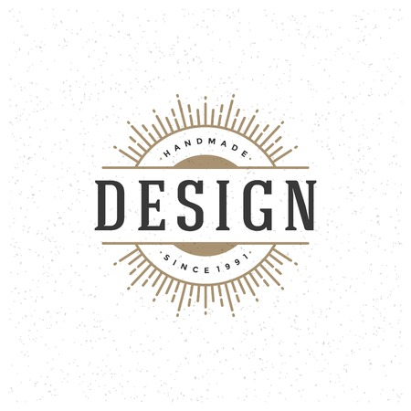 Retro Vintage Insignia, Label or Badge Vector design element, business sign template.