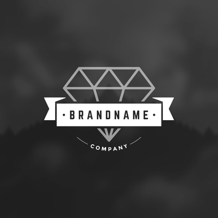 brand name: Retro Vintage Insignia, Label or Badge Vector design element, business sign template.