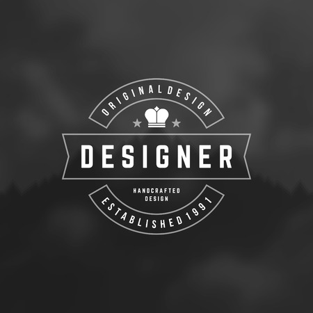 old style lettering: Retro Vintage Insignia, Logotype, Label or Badge Vector design element, business sign template.