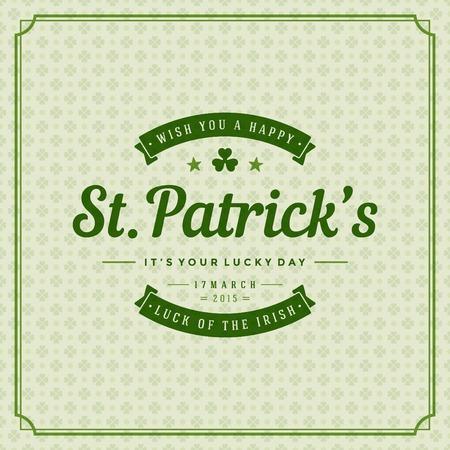 sfondo natura: Typographic Saint Patricks Day sfondo retr�.
