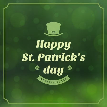 Typographic Saint Patricks Day Retro Badges. Vintage Vector design elements, labels, t-shirts, posters, greetings cards and objects. Vector