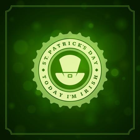 Typographic Saint Patricks Day Retro Background Vector