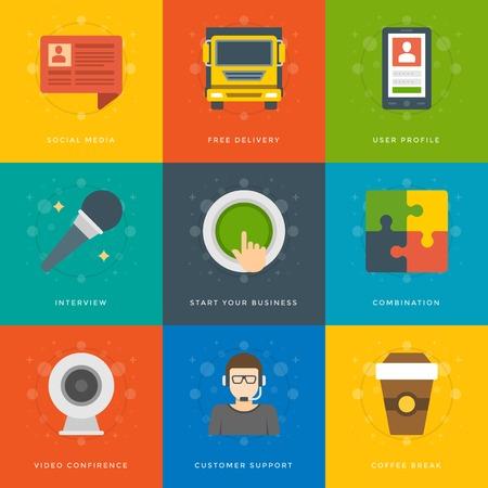 approved stamp: Iconos dise�o plano, pasaporte, Tel�fono, Im�n, Documentos Box, Sello Aprobado, Atenci�n, Medalla, Gr�fico, Codding. S�mbolos de negocios vector para el Web site y de promoci�n de banners. Vectores