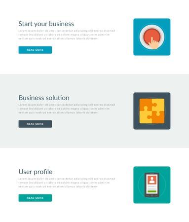 Website-Header Oder Promotion-Banner-Vorlagen Und Design-Wohnung ...