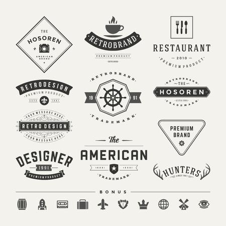 brand name: Retro Vintage Insignias or icons set.