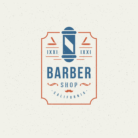 barbershop pole: Barbiere Design Element in stile vintage per l'icona.